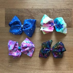 Set of 4 JoJo bows
